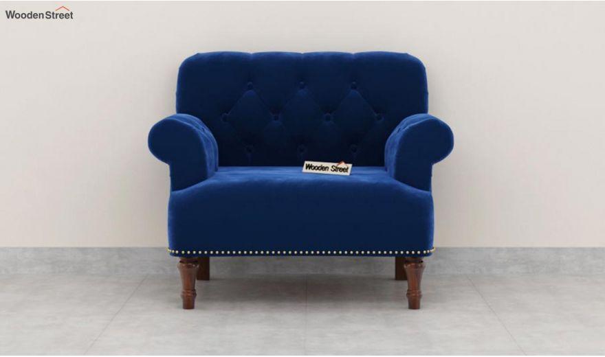 Parker 3 Seater Sofa (Velvet, Indigo Blue)-9