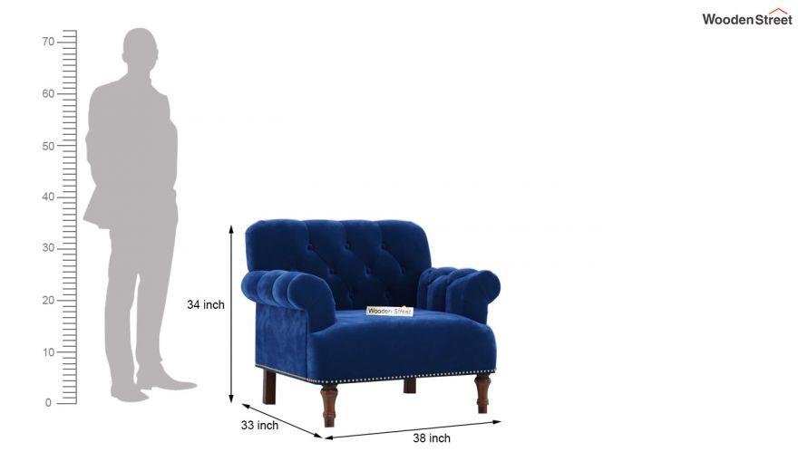 Parker 3 Seater Sofa (Velvet, Indigo Blue)-12