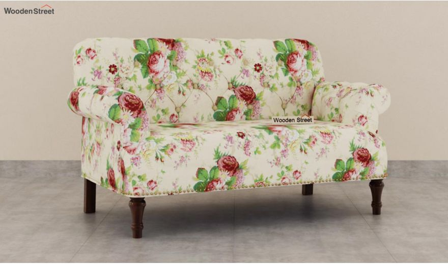 Parker 2 Seater Sofa (Fabric, Cream Blossom)-2