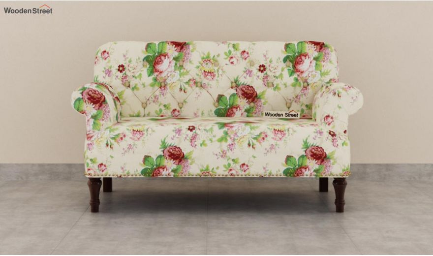 Parker 2 Seater Sofa (Fabric, Cream Blossom)-3