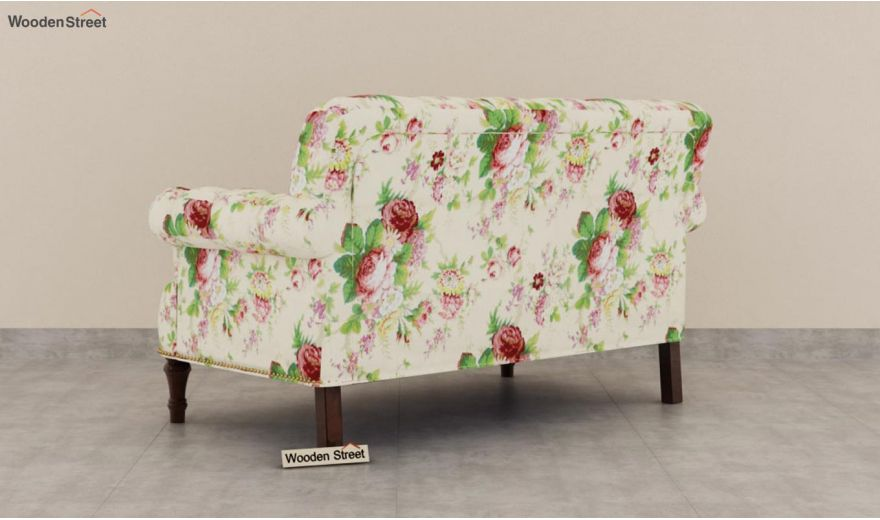 Parker 2 Seater Sofa (Fabric, Cream Blossom)-4