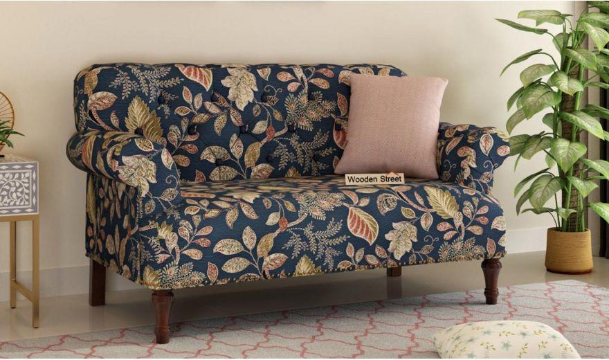 Parker 3 Seater Sofa (Fabric, Dusky Leaf)-8