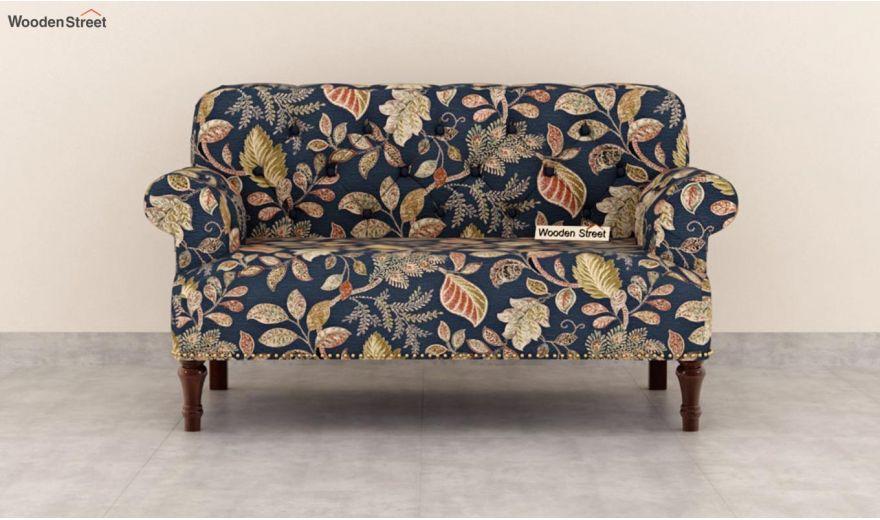 Parker 3 Seater Sofa (Fabric, Dusky Leaf)-9
