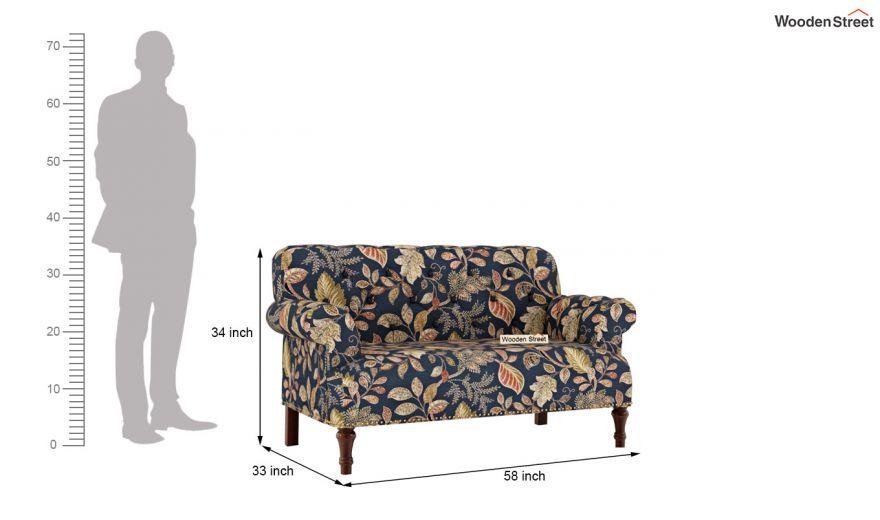 Parker 3 Seater Sofa (Fabric, Dusky Leaf)-11