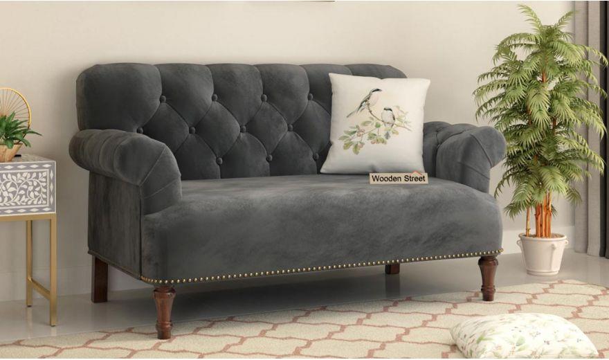 Parker 3 Seater Sofa (Velvet, Graphite Grey)-10