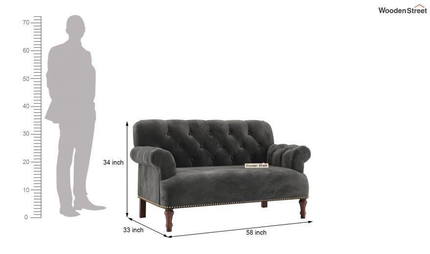 Parker 3 Seater Sofa (Velvet, Graphite Grey)-13