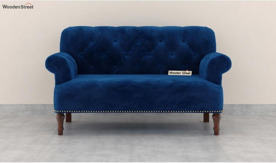 Parker 3 Seater Sofa (Velvet, Indigo Blue)-11