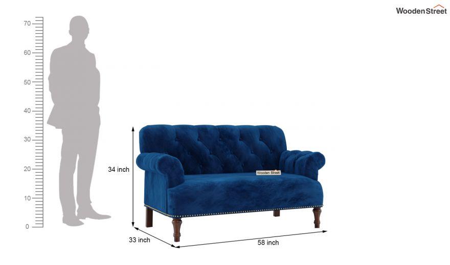 Parker 3 Seater Sofa (Velvet, Indigo Blue)-13