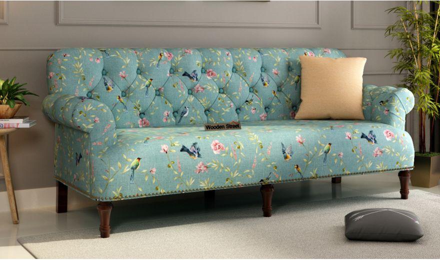 Parker 3 Seater Sofa (Linen, Bubble Robins)-1