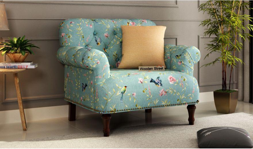 Parker 3 Seater Sofa (Linen, Bubble Robins)-4