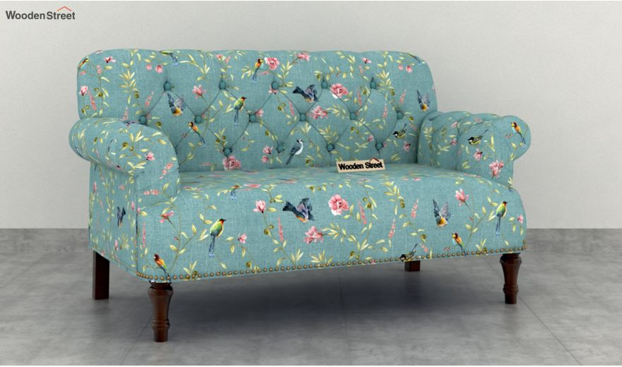 Parker 2 Seater Sofa (Linen, Bubble Robins)-2