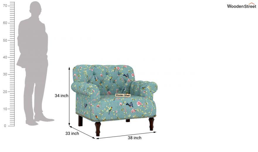 Parker 3 Seater Sofa (Linen, Bubble Robins)-8