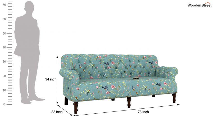 Parker 3 Seater Sofa (Linen, Bubble Robins)-10