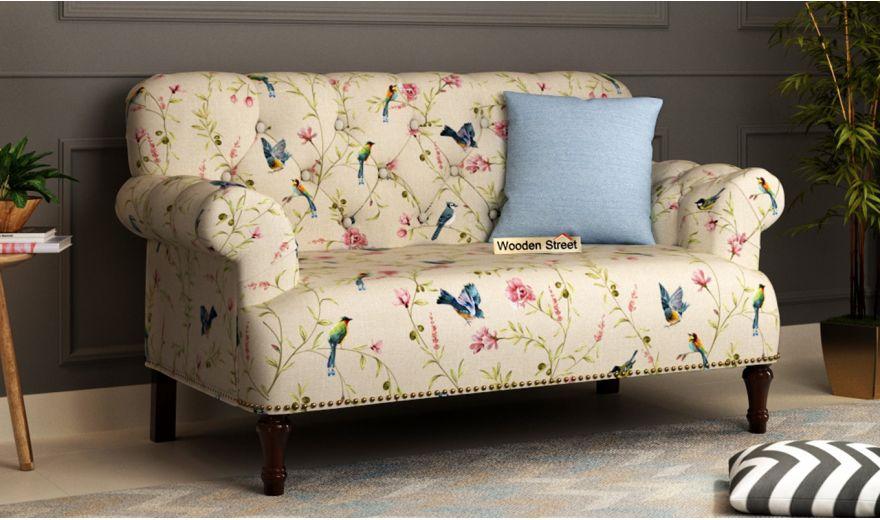 Parker 2 Seater Sofa (Linen, Cream Robins)-1
