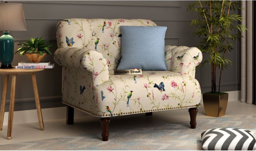 Parker 2 Seater Sofa (Linen, Cream Robins)-4