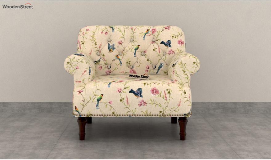Parker 2 Seater Sofa (Linen, Cream Robins)-5