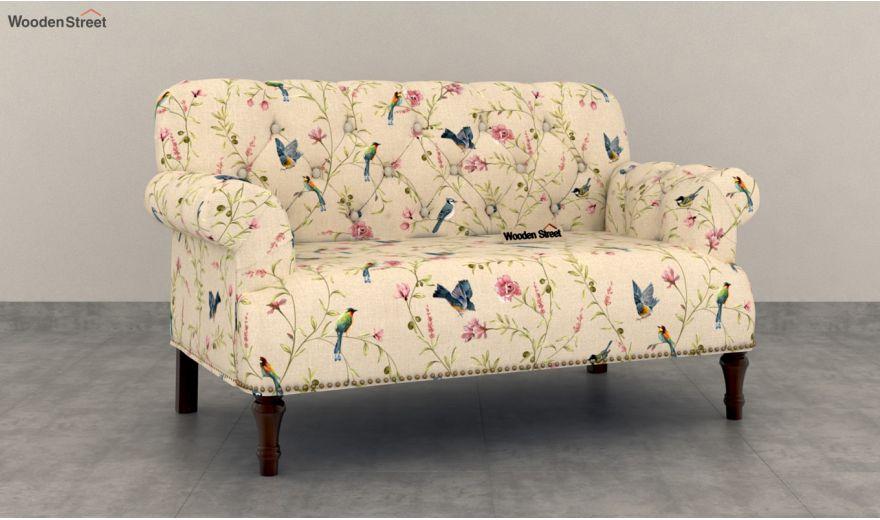 Parker 2 Seater Sofa (Linen, Cream Robins)-2