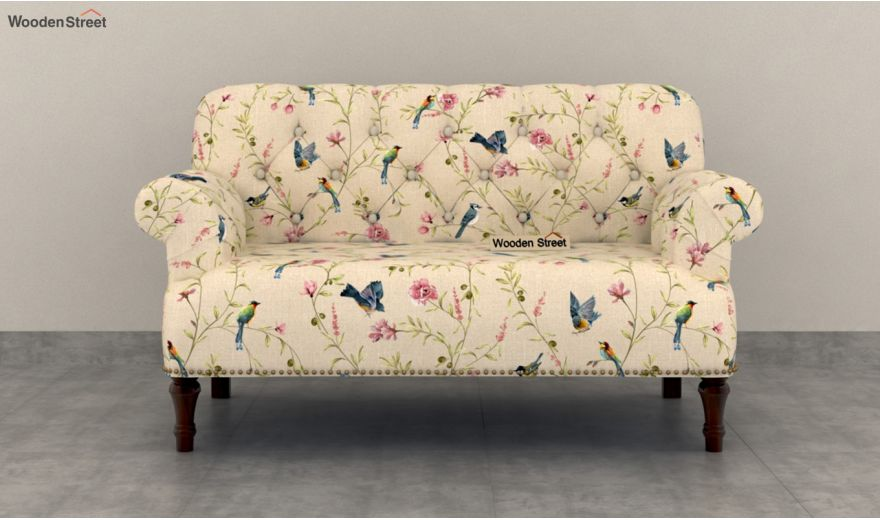 Parker 2 Seater Sofa (Linen, Cream Robins)-3
