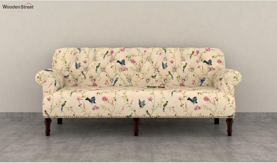 Parker 2 Seater Sofa (Linen, Cream Robins)-7