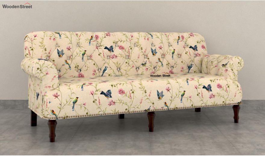 Parker 3 Seater Sofa (Linen, Cream Robins)-2