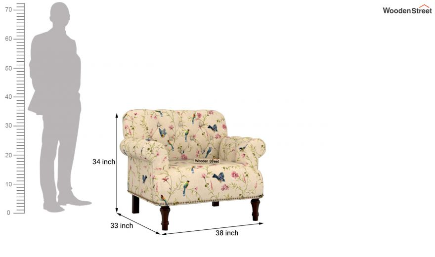 Parker 2 Seater Sofa (Linen, Cream Robins)-8