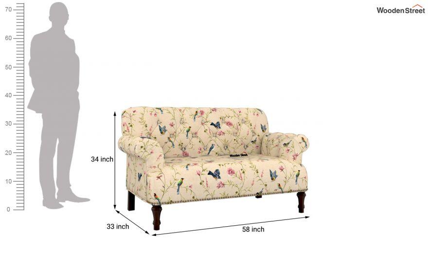 Parker 2 Seater Sofa (Linen, Cream Robins)-9