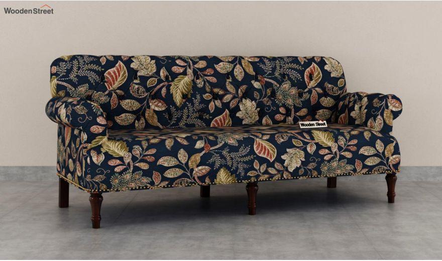 Parker 3 Seater Sofa (Fabric, Dusky Leaf)-3
