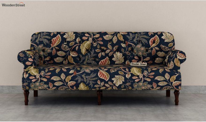 Parker 3 Seater Sofa (Fabric, Dusky Leaf)-4