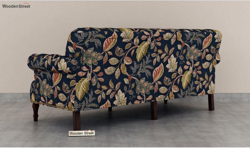 Parker 3 Seater Sofa (Fabric, Dusky Leaf)-5