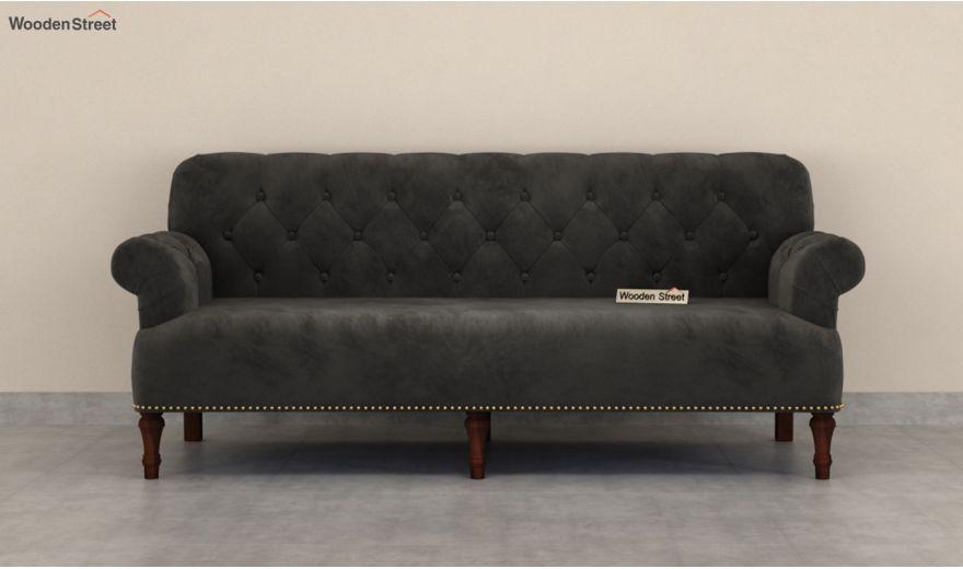 Parker 3 Seater Sofa (Velvet, Graphite Grey)-5