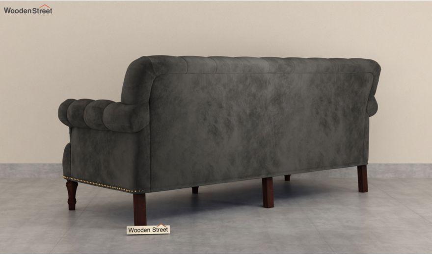 Parker 3 Seater Sofa (Velvet, Graphite Grey)-6