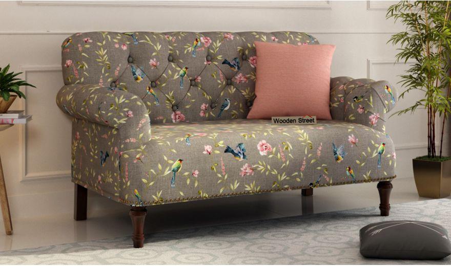 Parker 2 Seater Sofa (Linen, Grey Robins)-1