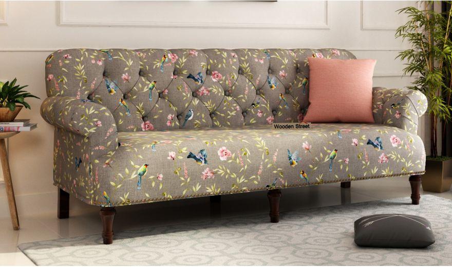 Parker 2 Seater Sofa (Linen, Grey Robins)-6