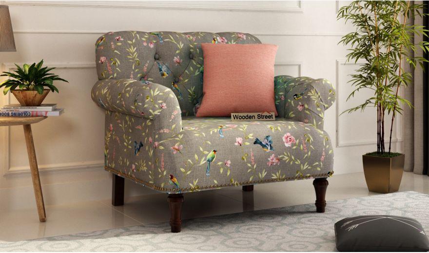 Parker 2 Seater Sofa (Linen, Grey Robins)-4
