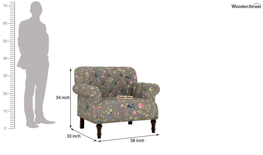 Parker 2 Seater Sofa (Linen, Grey Robins)-8