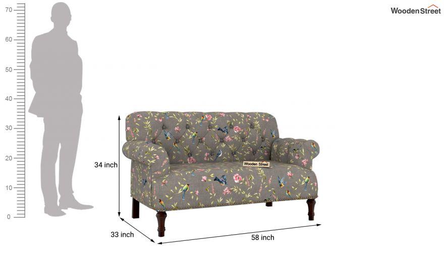 Parker 2 Seater Sofa (Linen, Grey Robins)-9