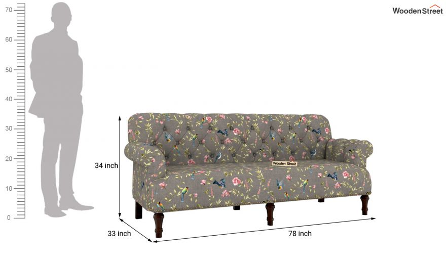 Parker 2 Seater Sofa (Linen, Grey Robins)-10
