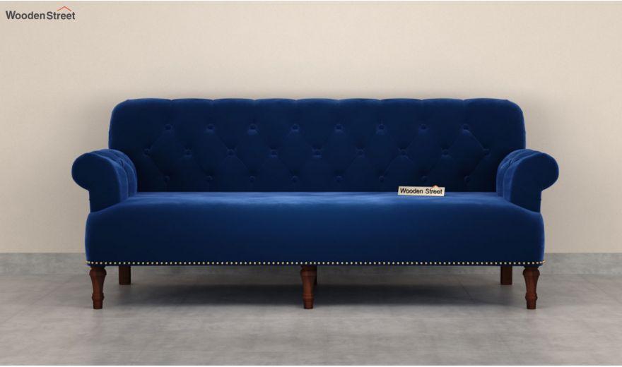 Parker 3 Seater Sofa (Velvet, Indigo Blue)-5