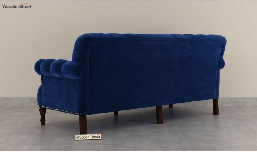 Parker 3 Seater Sofa (Velvet, Indigo Blue)-6