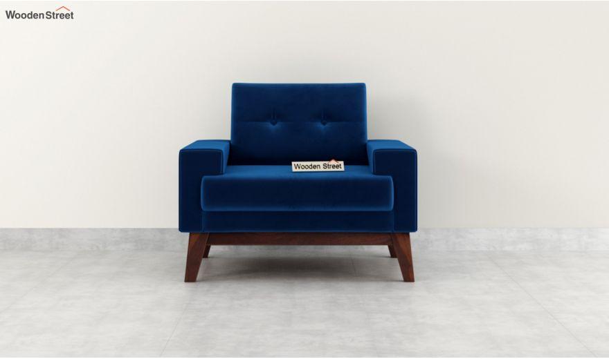 Richie 2 Seater Sofa (Velvet, Indigo Blue)-6