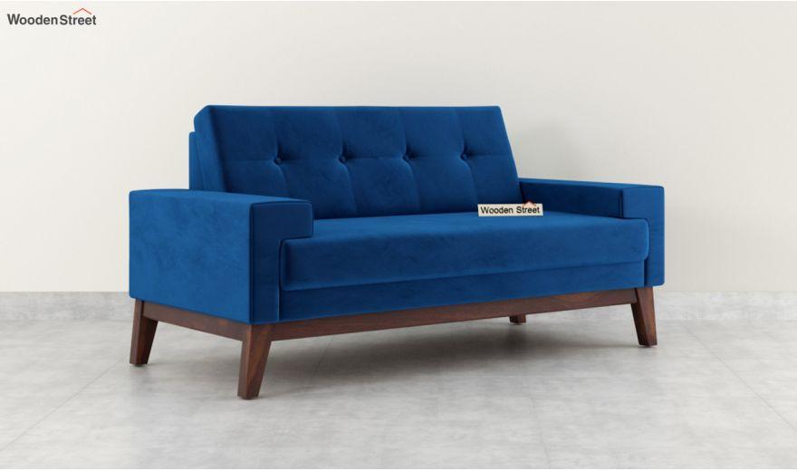 Richie 2 Seater Sofa (Velvet, Indigo Blue)-2