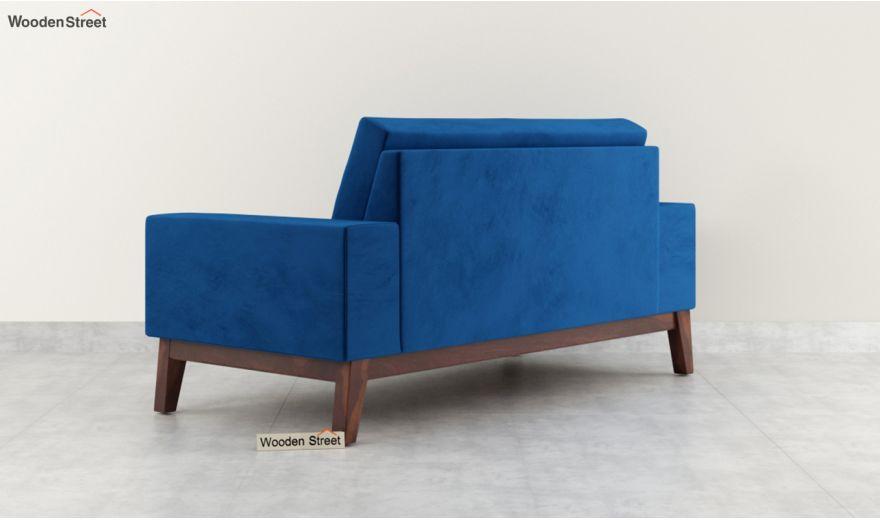 Richie 2 Seater Sofa (Velvet, Indigo Blue)-4