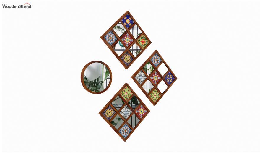 Bohemian Mirror Collage (Honey Finish)-3