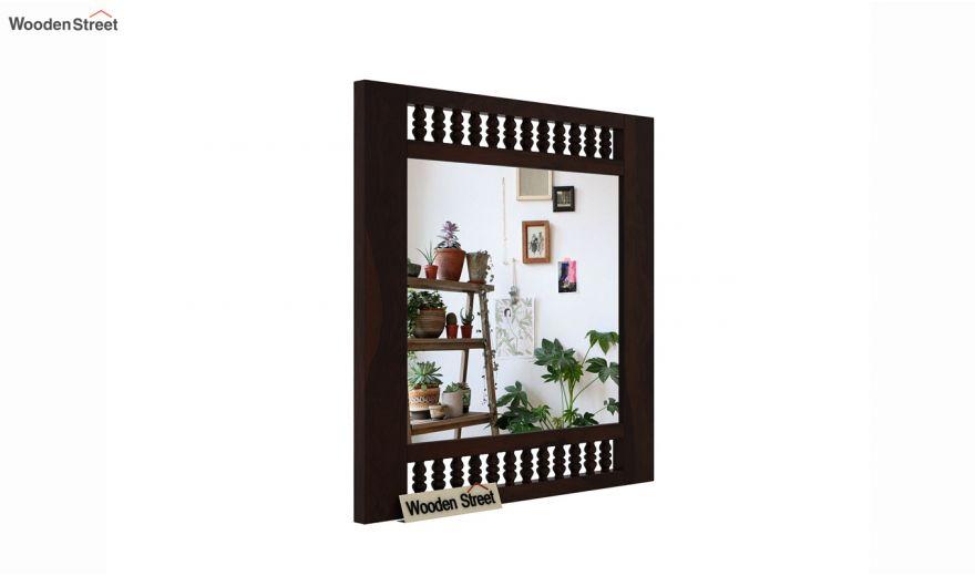 Alanis Mirror With Frame (Walnut Finish)-2