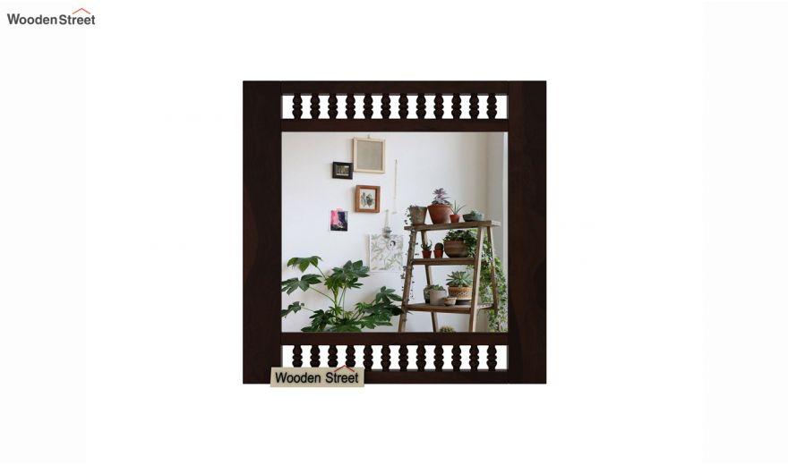 Alanis Mirror With Frame (Walnut Finish)-3