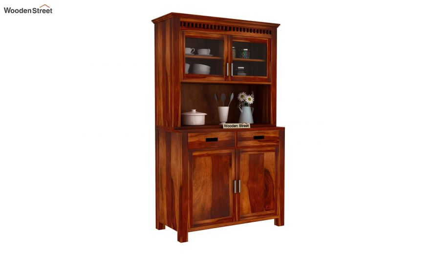 Adolph Hutch Cabinet (Honey Finish)-2