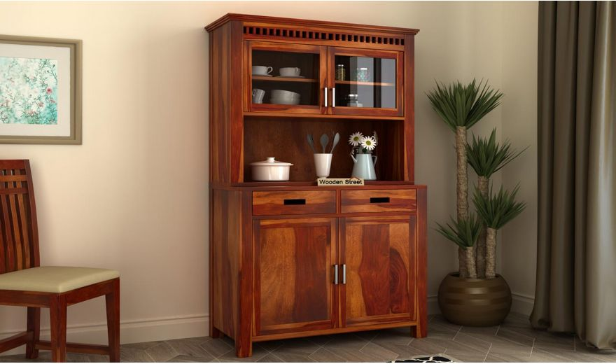 Adolph Hutch Cabinet (Honey Finish)-1