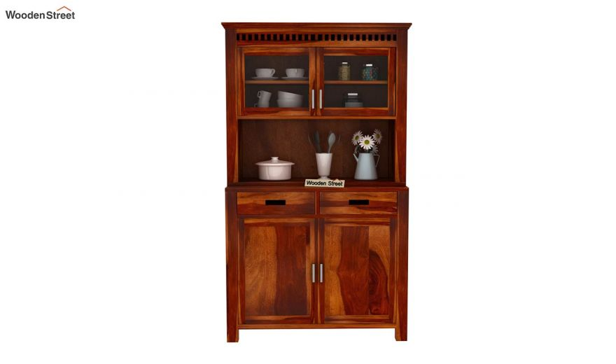 Adolph Hutch Cabinet (Honey Finish)-3