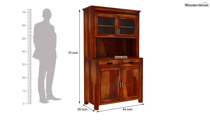 Adolph Hutch Cabinet (Honey Finish)-8