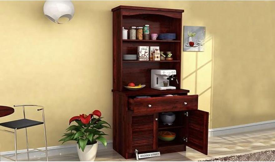 Aelita Kitchen Cabinet (Mahogany Finish)-1